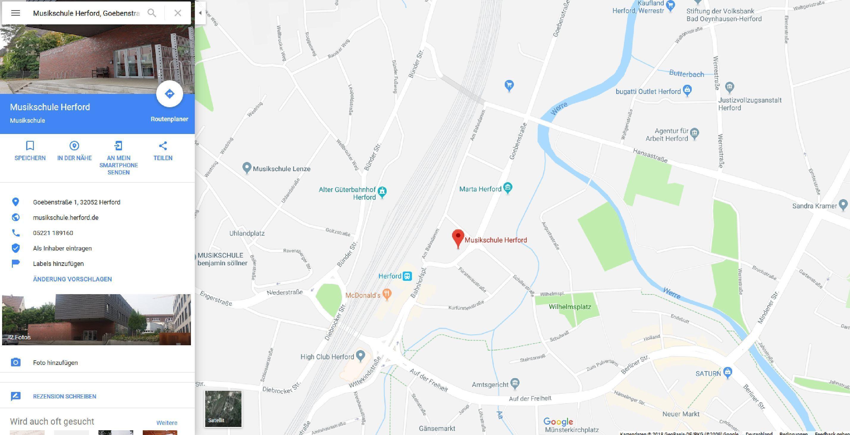 Lageplan Musikschule Google Maps